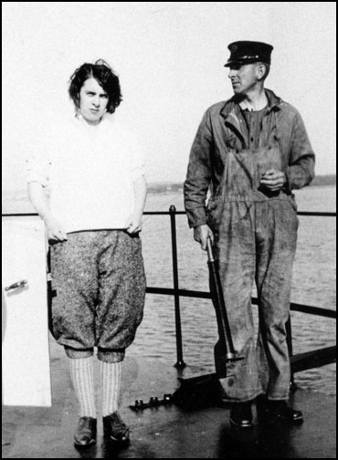Arnold White with daughter Muriel