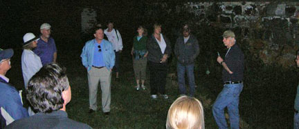 Group during haunted tour