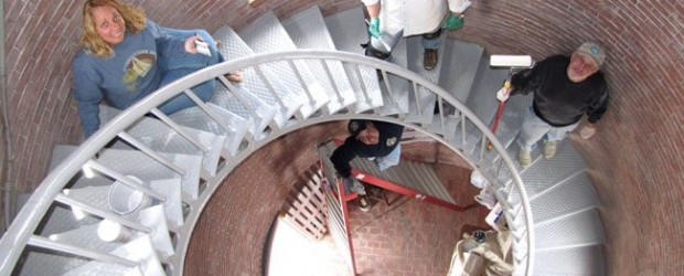 Volunteers and staff of Friends of Portsmouth Harbor Lighthouses and the American Lighthouse Foundation spent most of Saturday and Sunday, May 5-6, scraping and painting in the interior of Portsmouth […]