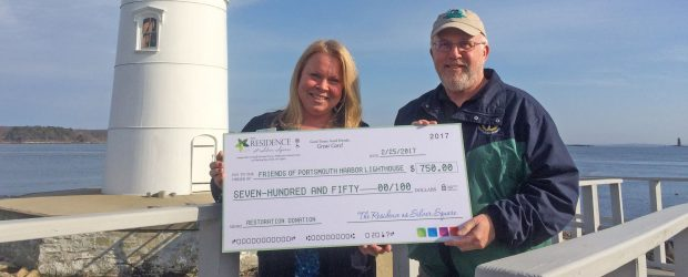 Heidi Morrison, sales and marketing director for The Residence at Silver Square in Dover, New Hampshire, visited Portsmouth Harbor Lighthouse today to present a donation of $750 toward a new […]